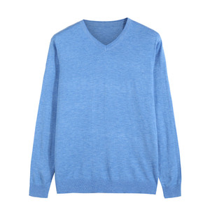 ¡Novedad de otoño 2018! Suéter de lana con cuello en V para hombre, Jersey informal de negocios, suéter fino de Color liso, ropa de marca azul, rojo y negro.