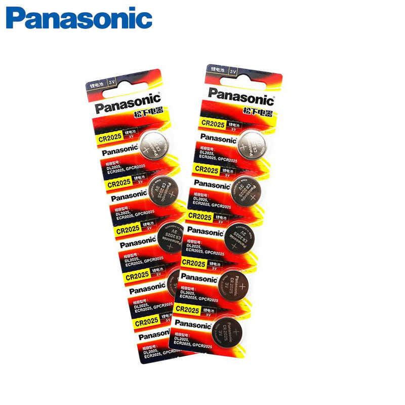 10 sztuk PANASONIC oryginalny brand new cr2025 3v komórka przycisku baterie monety do zegarka komputer cr 2025