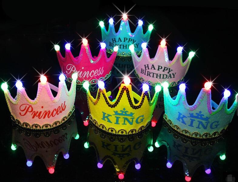 tienda online nueva fiesta de cumpleaos y fiesta party crown cap sombrero de fiesta cos juegan corona con luz led para adultos y nios gratis gratis