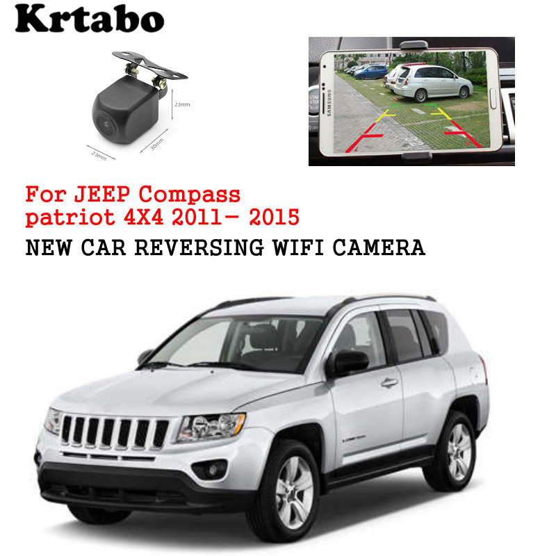 Car wireless rear camera For JEEP Compass patriot 4X4 2011- 2015 car reversing HD camera CCD night vision waterproof high qualit(China)