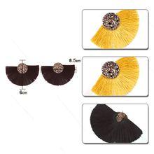 New Europe Fashion Temperament Alloy Tassel Sector Earrings Simple Shining Creative Geometric For Women Design Jewelry