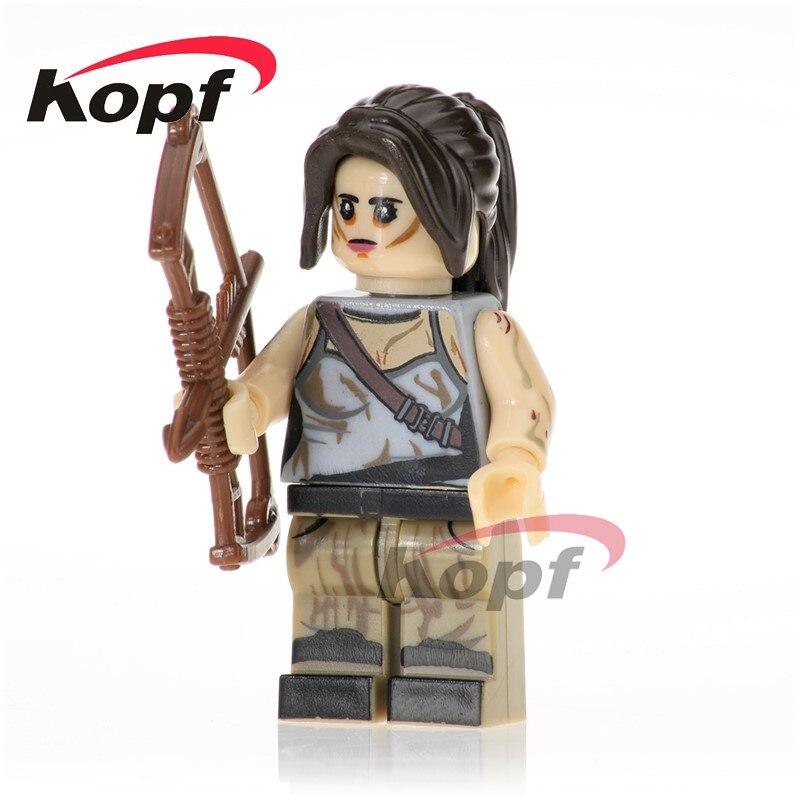 Lara Croft Peeta Nathan Drake Uma Thurman The Bride Kill Bill Vol.1 Super Heroes Building Blocks Bricks Children Gift Toys KL070 чайник lara lr00 04 r