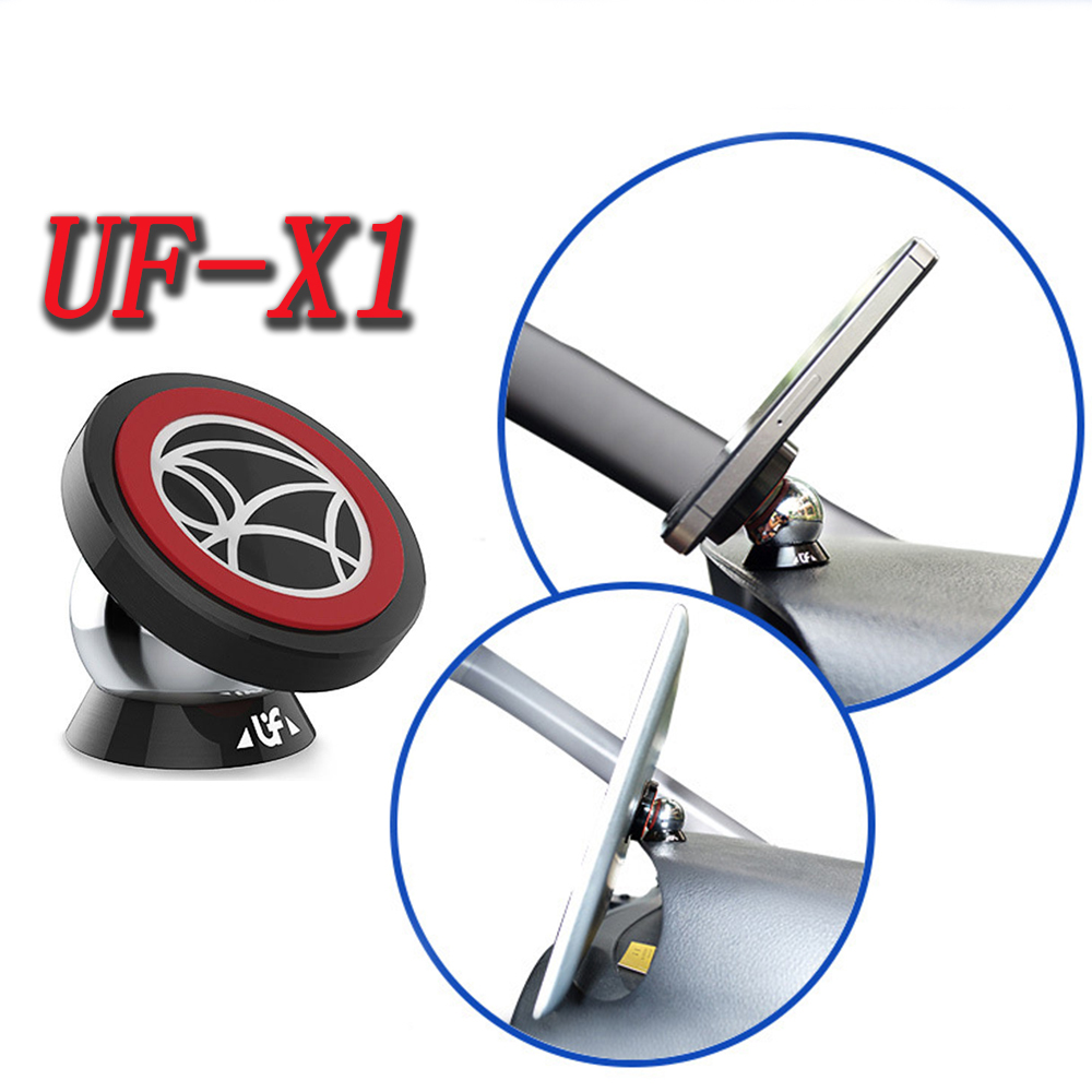 Magnetic 360 Degrees UF-X1 Car Mount Kit Bracket Magnet Mount Car Dashboard Stand Phone Holder For iPhone iPad Tablet PC GPS sx 005 360 degree rotating vehicle general magnetic phone mount holder