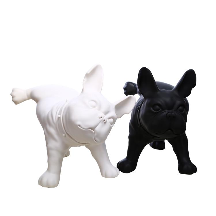 Plastik Fransız Bulldog Dog Mannequin