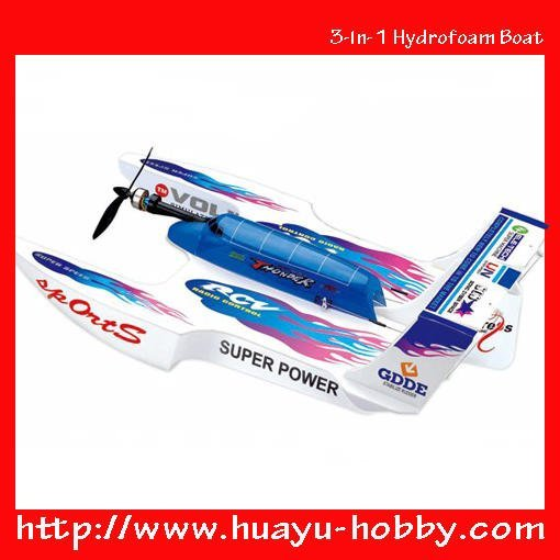 3-in-1 Hydrofoam Boat Aeroamphibious Pathfinder RC Flying Boat Popular RC Hobby flyer Model aerobatic aircraft wholesale