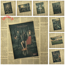 Multiple Awards The Vampire Diaries Classic Movie Kraft Paper Poster Cafe Creative Wallpaper Interior Decoration Free