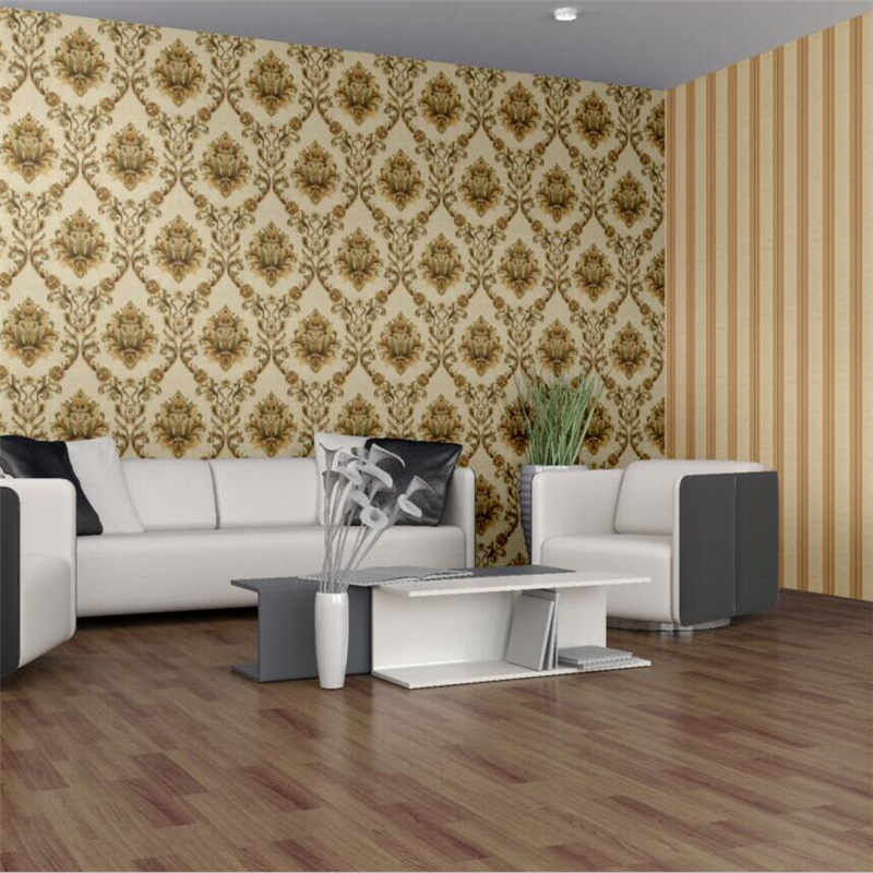 beibehang Living room TV background wall paper European 3D embossed Damascus pvc wallpaper home improvement bedroom wallpaper beibehang european sound non woven northern damascus bedroom living room tv setting wall paper wallpaper for bedroom living room