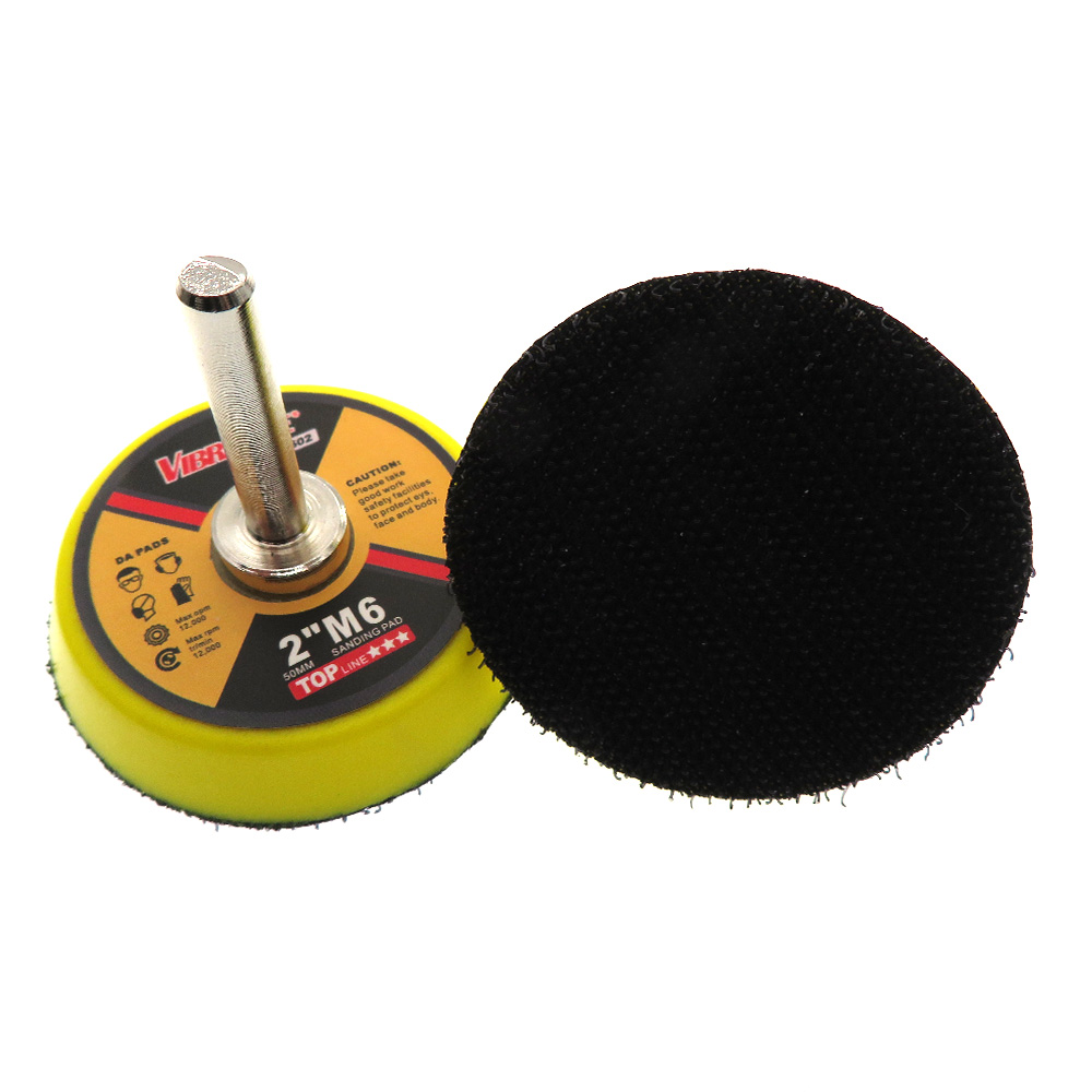 2 Inch 50mm Backup Sanding Pad 6mm Shank Drill Pad Hook And Loop For Grinding Polishing