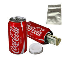 Stash safe cola can diversion Hidden box with a food grade smell proof bag
