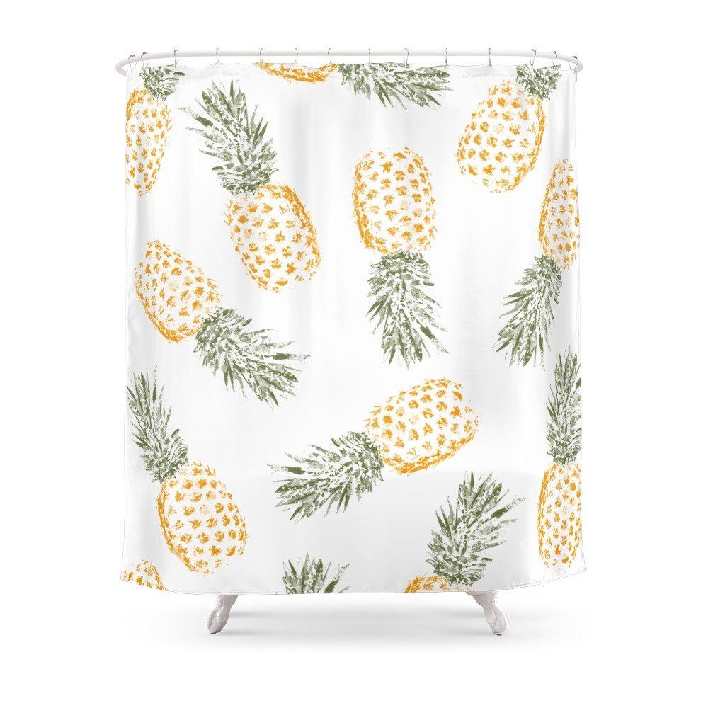 Pineapple Shower Curtain Waterproof Bathroom Curtains Accessories Home Decoration In From Garden On
