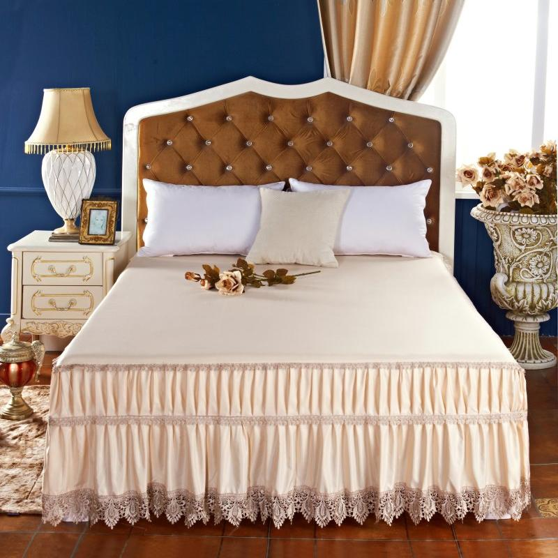 New Pure Princess Lace Modal Bed Skirt Ruffles High Quality Comfortable bed skirts silky soft Queen King size FittedNew Pure Princess Lace Modal Bed Skirt Ruffles High Quality Comfortable bed skirts silky soft Queen King size Fitted