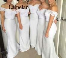 Женское длинное белое вечернее платье laipelar кружевное с открытыми