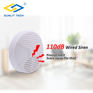 Image 4 - 2pcs/Lot 12V Mini Indoor Wired Horn Siren High Quality ABS Housing Wired Hooter Home Security Sound Alarm Strobe System 110dB