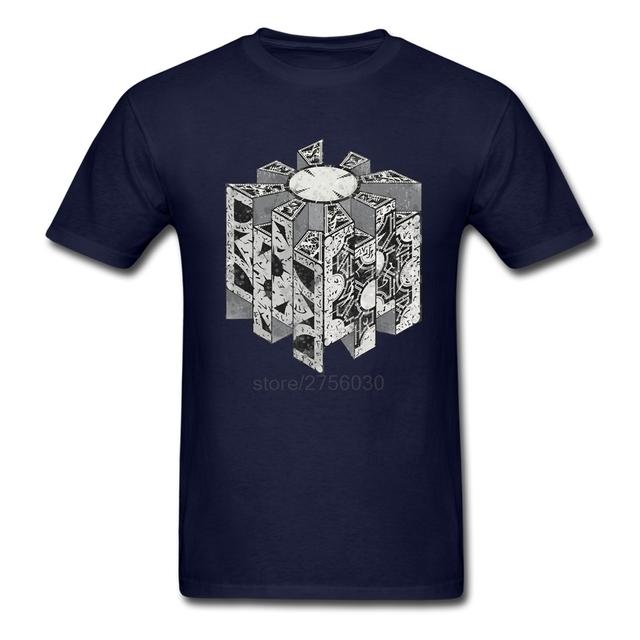 Hombres camiseta friki xs-3xl 100% de algodón de manga corta t-shirts hombres descuento hellraiser puzzlebox camisetas plus size clothing top