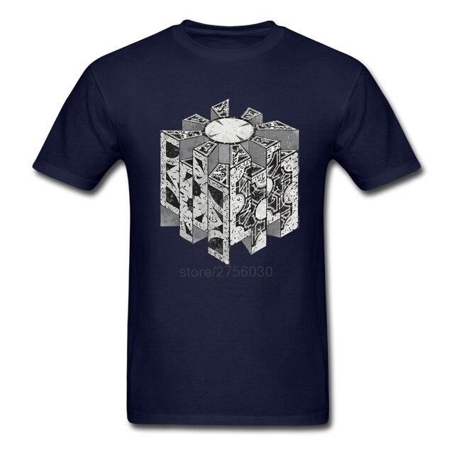 Men T-shirt XS-3XL Geek 100% Cotton Short Sleeve Tshirts Men Discount Hellraiser Puzzlebox T Shirts Plus Size Clothing Top