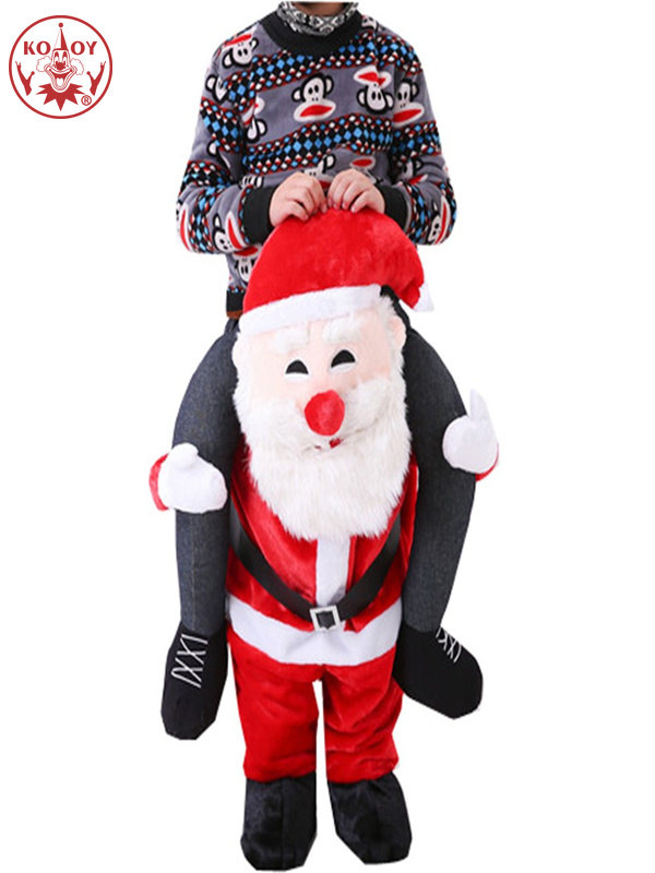 Carry On Santa Claus Ride On Costumes Adult Men Animal Funny Dress Up Fancy Pants Halloween Cosplay