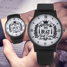 Elegant Quartz Analog Watch for Male The Best Dad Ever Serie