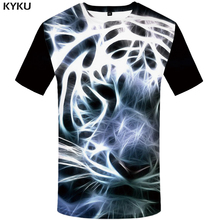 KYKU Brand Tiger T Shirt Men Animal Tshirt Punk Cool 3d T-shirt Funny Shirts Summer Gothic Mens Clothing 2018 New Casual Tops
