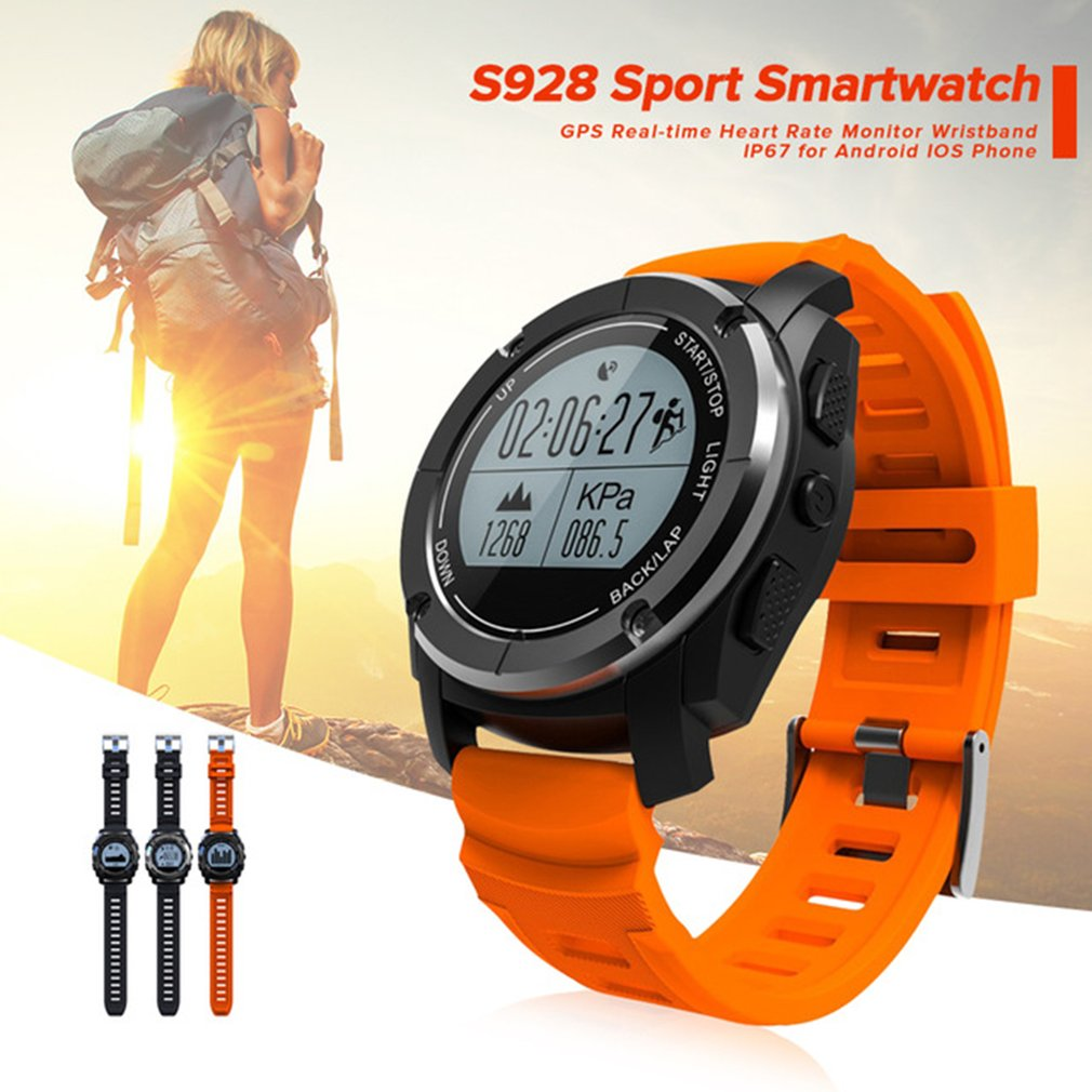 S928 Professional Sport Smart Watch G-sensor GPS Outdoor Heart Rate Monitor Smart Wristband Smartwatch for Android for IOS 2018 цена