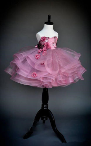 Custom New Sequin Appliqued   Flower     Girl     Dress   Kids Pageant Communion Boll Gowns