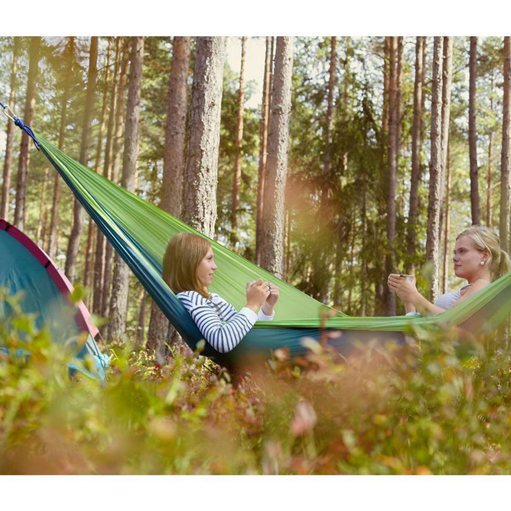 Hammocks Furniture 12 Color 2 People Portable Parachute Hammock Camping Survival Garden Ultralight Hunting Leisure Hamac Travel Double Person Hamak Products Hot Sale