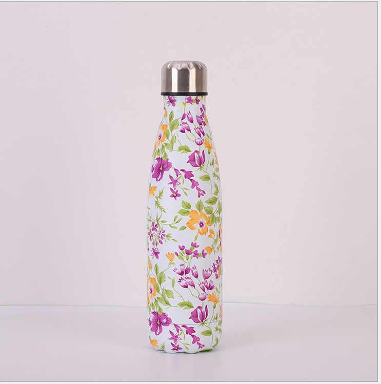 נירוסטה ואקום מבודד מים בקבוק בקבוק תרמי ספורט קריר 500 ML