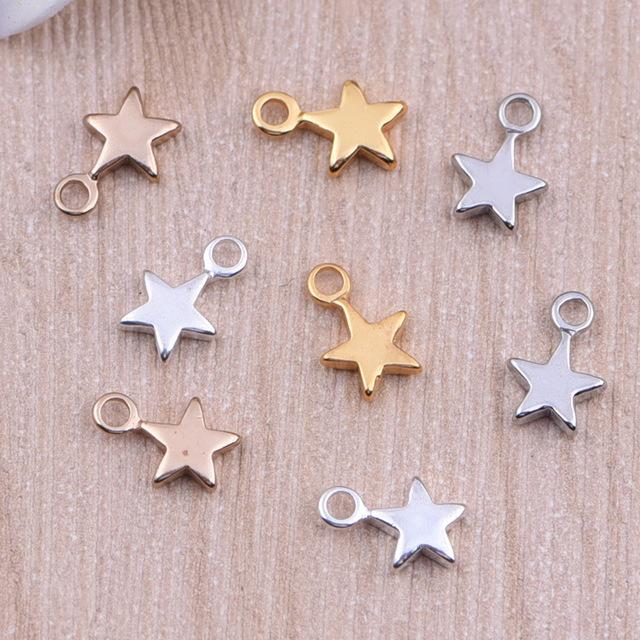 Yage 9*6*1.5mm Resultados Da Jóia Da Forma, 5 Cores Estrela de Cobre Encantos Pingente para Jóias DIY fazendo