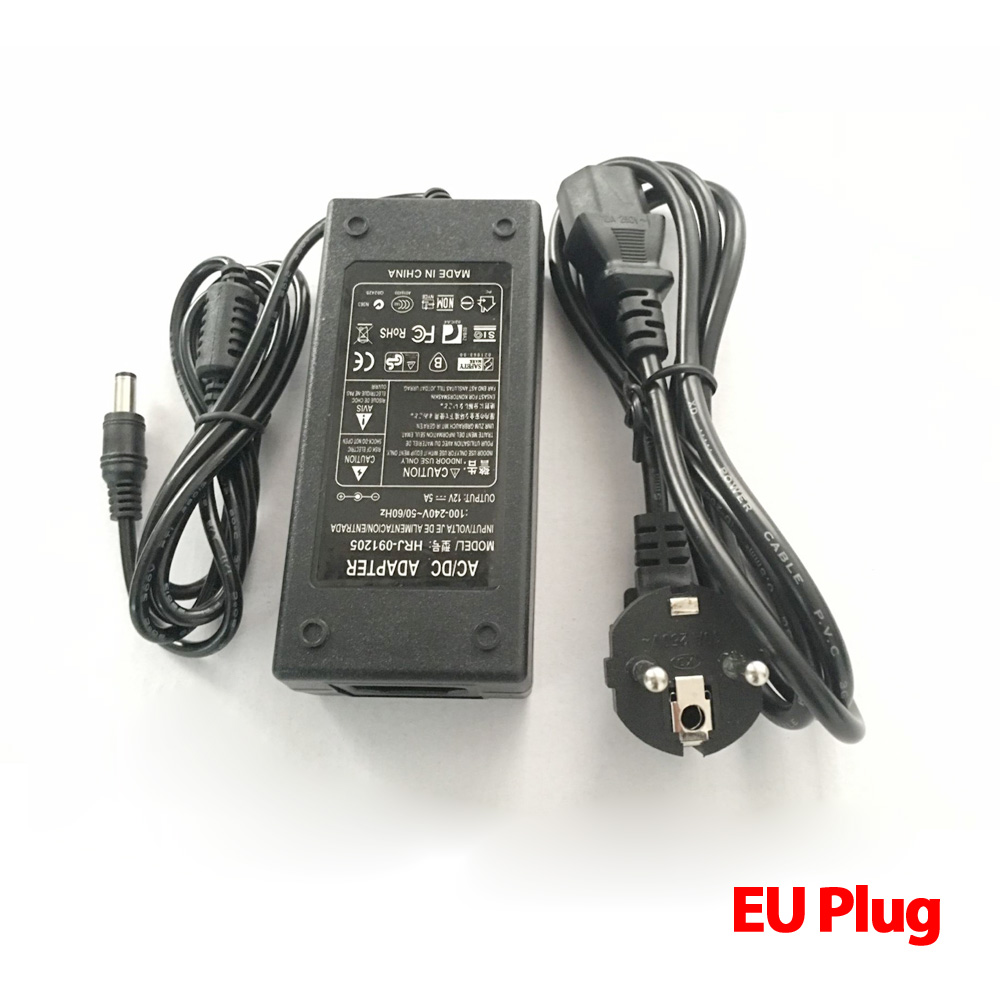 cheapest Lowest Price New AC Converter Adapter For DC 12V 5A 60W LED Power Supply Charger for 5050 3528 SMD LED Light or LCD Monitor CCTV
