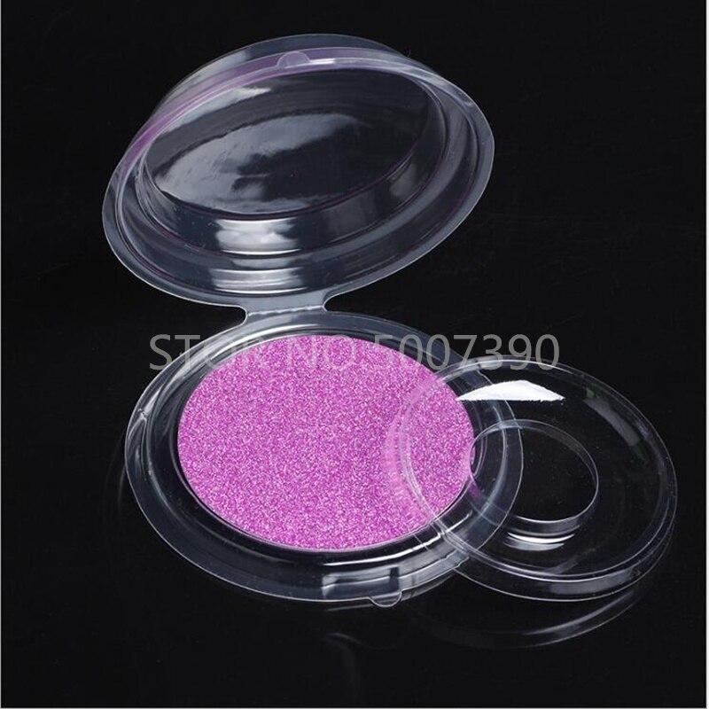 100/set Round Lashes Packing Boxes Clear Eyelashes Packing Tray Eyelashes Packaging   Eye Lash  DIY
