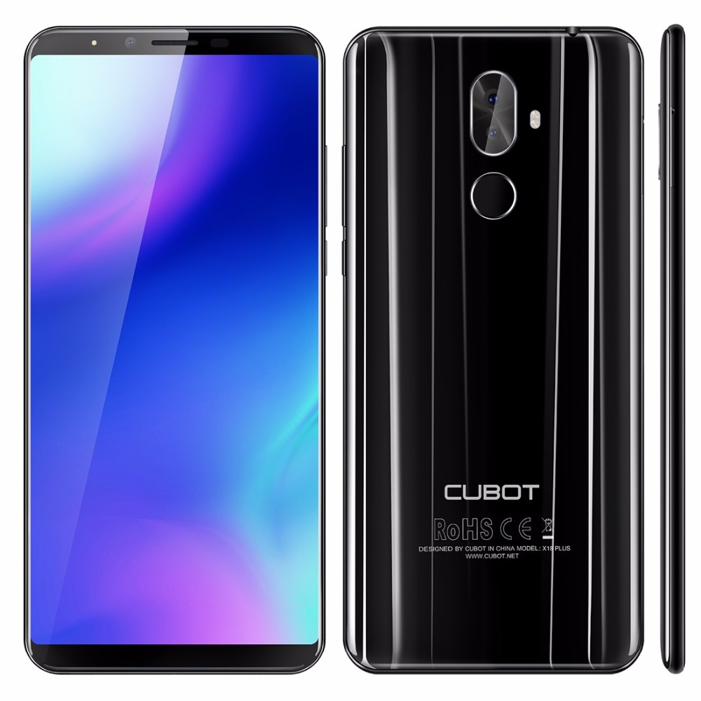 D'origine Cubot X18 Plus 5.99 FHD Smartphone MTK6750T Octa-core 4 gb RAM 64 gb ROM 16MP Android 8.0 Cellulaire 4g LTE 4000 mah 3 Cames