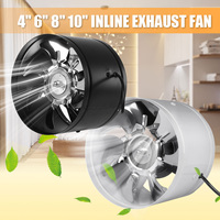 1Pcs 4/6/8/10 Inch Duct Fan Booster Exhaust Ventilator Ventilation Vent Air For Kitchen Toilet Wall Exhaust Fan Not plug Mute
