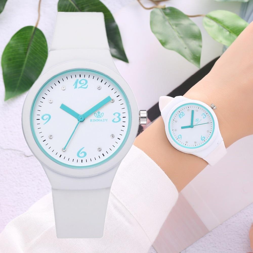 Dropshipping Fashion Trend Jelly Silicone Women Watch Ladies Rubber Diamond Sport Women Wristwatches Quartz Clock Reloj Mujer