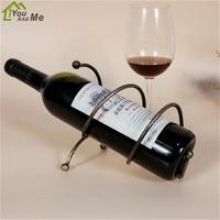 Classical Elegant Metal Spring Wine Rack Home Decor Creative Barware New Year Wedding Wine Bottle Shelf