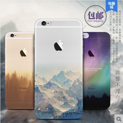 Ultra Thin Soft Silicon Mountain Case Cover Apple iPhone 6 6S Luxury Series Fashion Transparent Back Phone - Young.K Boutiques Store store