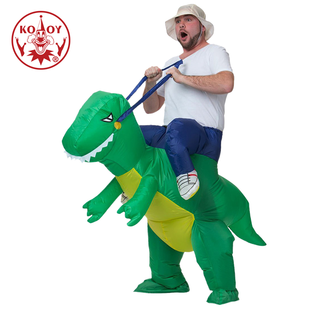 KOOY Inflatable Dinosaur Costumes for Adult Kids Purim Halloween Cosplay T-Rex Fancy Dress