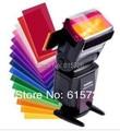 5 компл./лот 12 шт./компл. карточку цвета для Strobist Флэш Гель Фильтр Color Balance с резинкой, диффузор Освещения Бесплатная доставка