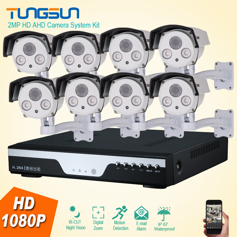 Best Night Vision HD 8CH 1080P AHD Security Camera 2MP CCTV System Kit 8 Channel Array IR Outdoor Video Surveillance System