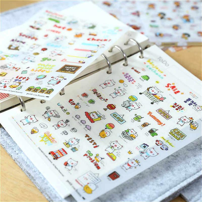 LOLEDE عشوائي واحد الكرتون نمط ملصقات مضحك للهاتف المحمول وحقيبة ملصقات الكمبيوتر المحمول لطيف سكيت ملصق