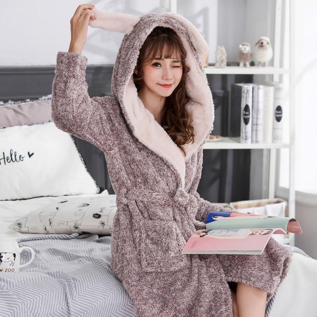 New Women Coral Fleece Sleepwear Kawaii Kgurumi Winter Autumn Warm ...