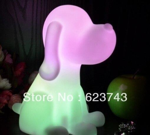 Free доставка Радуга Красочные большая Собака СВЕТОДИОДНЫЕ лампы <font><b>night</b></font> light для детей, мопс Ночника для Детей Рождественский Подарок оптовые