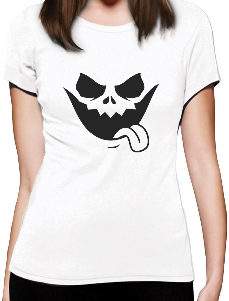 2018 Fashion Evil Jack O Lantern Scary Pumpkin Face Halloween Women T-Shirt Funny Casual Short Sleeve Shirt Tee