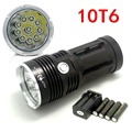 New 20000 lumens High Power 10T6 LED 10 x CREE XM-L T6 LED Flashlight Torch Lamp Light Lantern with 4*Batteries & Chargers
