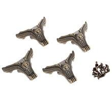 Декоративные металлические углы для мебели 4 шт защитные деревянных