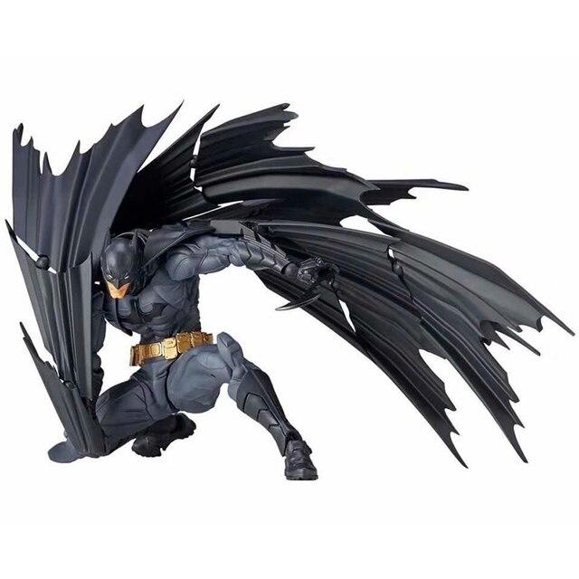 DC Comics Liga Da Justiça Superhero Revoltech NO. 009 Batman Action Figure Collectible Modelo Toy