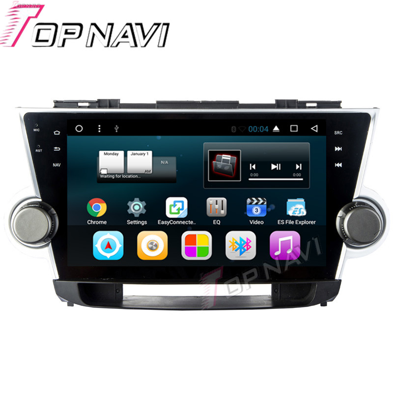 WANUSUAL 10.1 Quad Core Android 6.0 Car GPS for Toyota Highlander 2008 2009 2010 2011 2012 2013 2014 Multimedia Audio,NO DVD car rear trunk security shield shade cargo cover for nissan qashqai 2008 2009 2010 2011 2012 2013 black beige