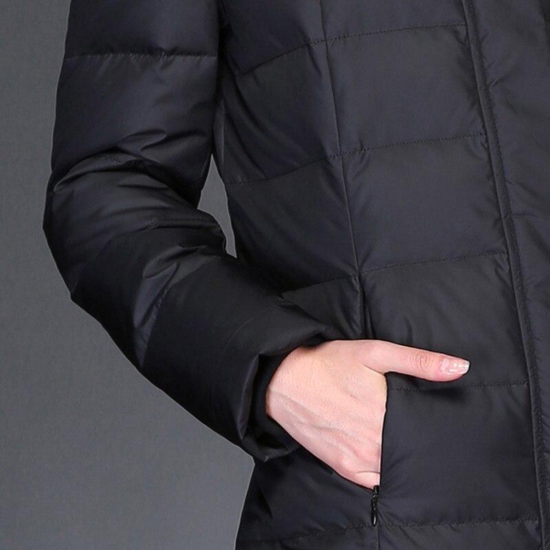 Manteau 90 Plus Dames Kmetram Canard 2018 La Chaud red Femelle Duvet Blanc Veste My447 gray Longue De Parkas Épais Black Hiver Femmes Vintage Taille EI7qI