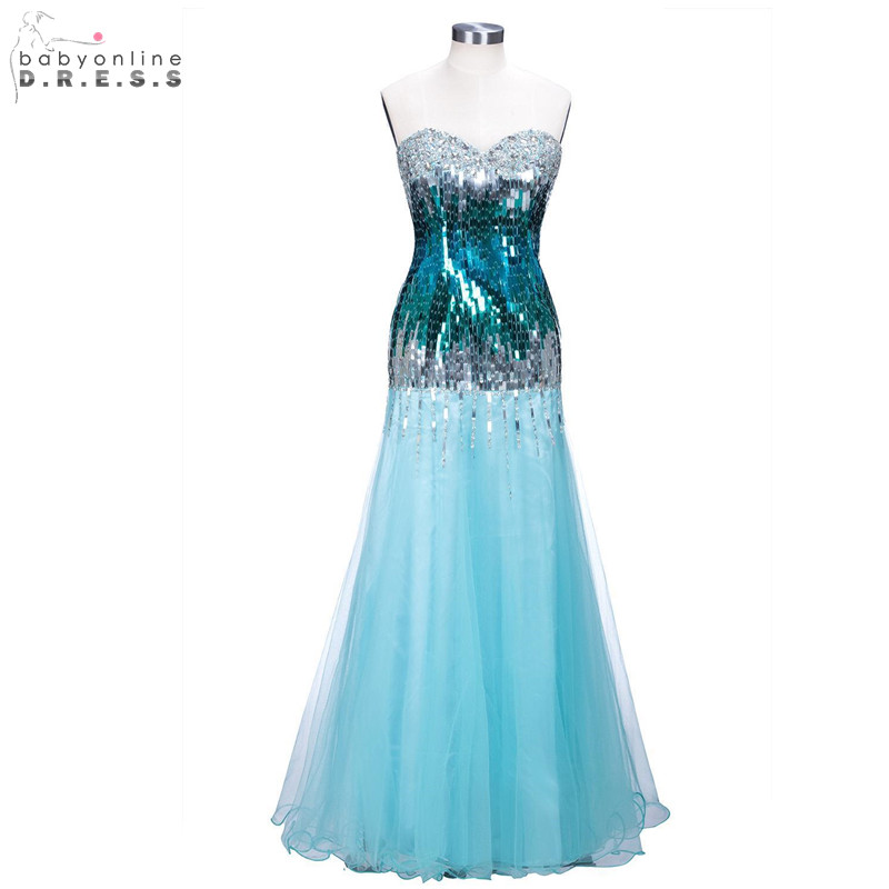 Sexy Backless Reflective   Dress   Elegant Sweetheart Neck   Prom     Dresses   Long Charming Sequined Chiffon Evening Party   Dresses