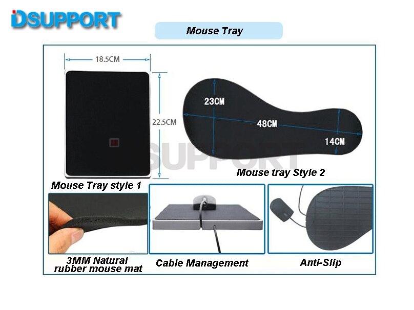 OK150 multifonctionnel plein mouvement chaise de serrage support de clavier + carré tapis de souris + chaise bras de serrage XL taille tapis de souris/tapis - 4