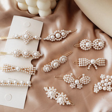 1PC Korea Fashion Imitation Pearl Butterfly Hair Clips Geometric Irregular Round Flower Hairpins Bowknot Accessories