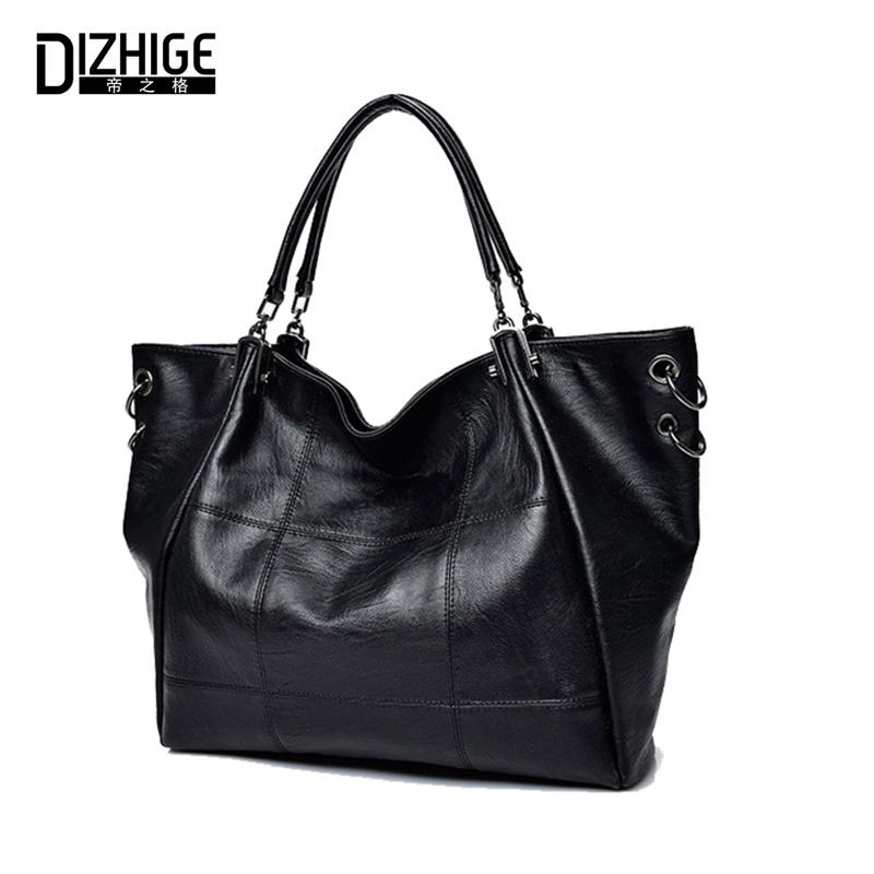 DIZHIGE Brand Luxury Handbags Women Bags Designer PU Leather Handbags High Quality Ladies Shoulder Bags Big Capacity Sac Femme dizhige brand 2017 fashion thread crossbody bags plaid pu leather bags women handbags designer shoulder bags ladies sac spring